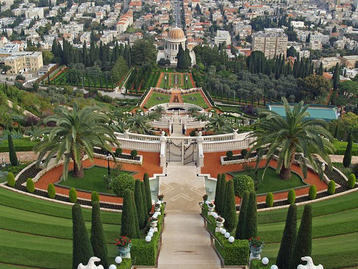 Gradinile Bahá'í Sursă foto: Wikipedia