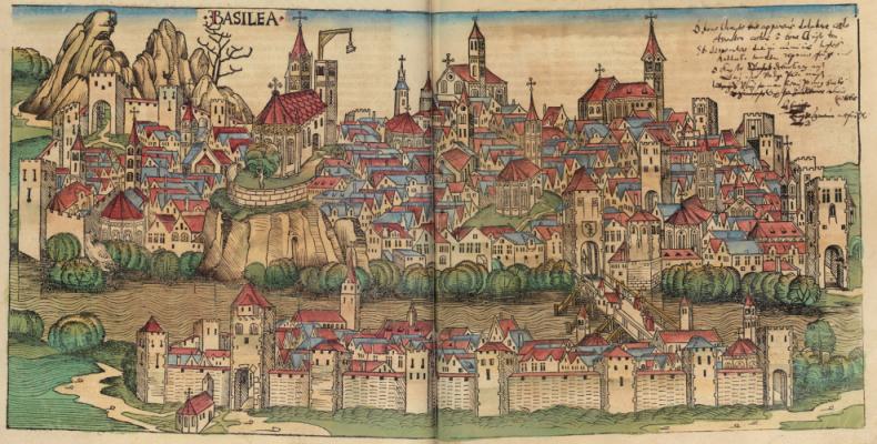 OZN-uri negre la Basel, Elveţia, în 1566