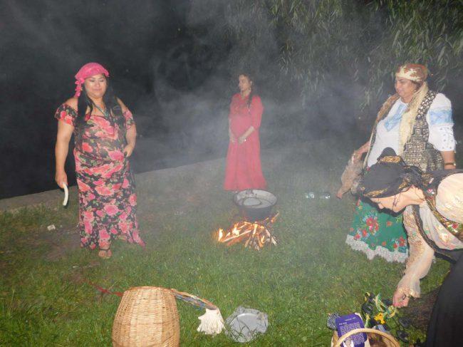 vrajitoarea Morgana la ritual de noapte